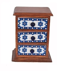 Three Hand Painted Ceramic Drawer