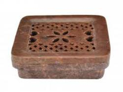 Flower Carved Soapstone Soap dish