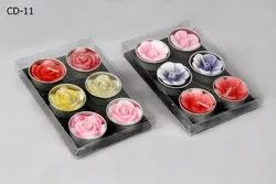 T-Light Flower Candle (set Of 6)