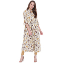Jaipur Prints Rayon Flared Kurta with Bell Sleeves