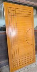 Polished Hinged Designer Door, Thickness: 30 mm