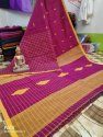 Khadi Cotton Check Jamdani Sarees
