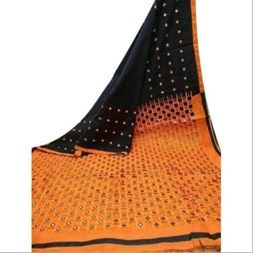 Handloom Catout Silk Saree, 5.5 M (separate Blouse Piece), Packaging Type: Box
