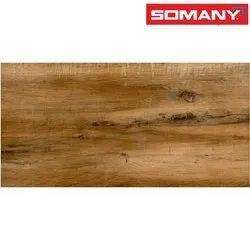 Somany T61202444 Grande Kalida Wood Brown Tiles, Size/Dimension: 600x1200mm