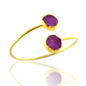 Druzy Gemstone Adjustable Bangles