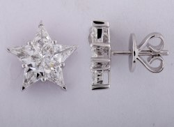 Star Shaped Diamond Earrings
