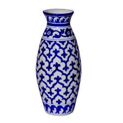 Blue Pottery Bottle