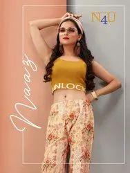 Tunic House N4U Naaz Cotton Flex Print Pant, Dry Clean