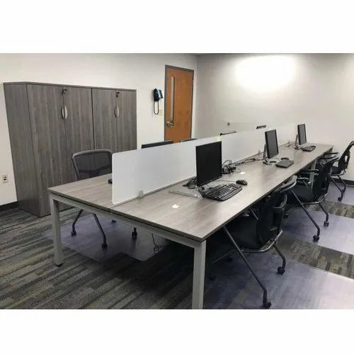 Creature Comforts Plywood Computer Workstation, For Office, Seating Capacity: 6 To 12 Seater