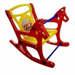 Red Plastic Rocking Chair, For Home, Back Style: High Back