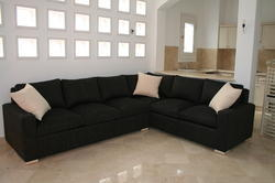 Cushion Back L Shape Sofa Set