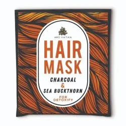 Arovatika Natural Hair Mask Charcoal and Sea Buckthorn (for Detoxifying) 25 ml