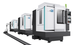 New Drilling And Tapping Machining Center Robot Automatic Line