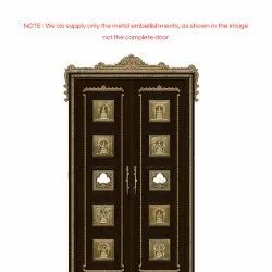 Gajalakshmi Pooja Room Door Accessories