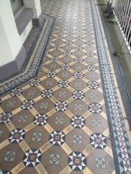 Handprinted Exterior Ceramic Tile