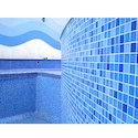 Crystal Swimmingpool Glass Mosaic Tiles