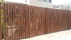 Boundary Grill Wooden Boundary Railing Manufacturer From Chandigarh