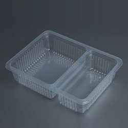 2 Compartment Disposable Tray