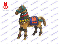Horse Standing With Stone Work