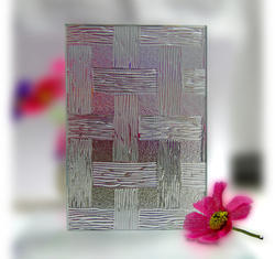 Prime Transparent Woven Figured Glass, Shape: Rectangle