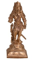 Standing Yellow Poompuhar Bronze Murugan, for Promotional Use, Size/Dimension: 2.5 X 3 X 6 Inch