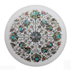 Modern Marble Inlay Plate