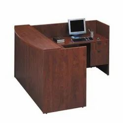 Ergonna Wooden L Shape Reception Desk, For Corporate Office, Size: 1200 Mm X 1500 Mm
