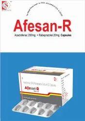 Aceclofenac 200 mg (SR)  Rabeprazole 20 mg