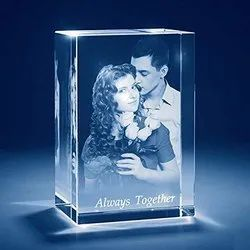CRYSTAL WITH 3D PHOTO, For Gift