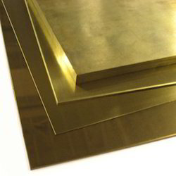 Smooth Polished Rectangular & Square Brass Plates, For Industrial, Steel Grade: Standard