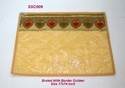 Single Saree Cover Broket With Border Golden