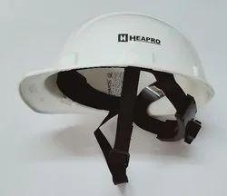 Safety Helmet White Ratchet Strap
