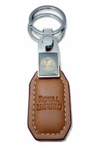KEY FOB. ROYAL ENFIELD FAUX LEATHER KEY RING