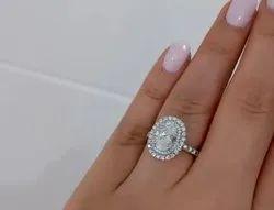 Moissanite White Ring