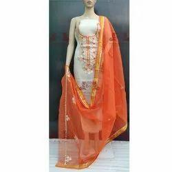 Designer Kota Doria Gotta Patti Work Dress Material