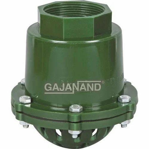 Gajanand polypropylene Green Foot Valve, Size: 50 Mm To 100 Mm, For Irrigation