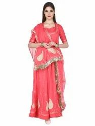 Fancy Chiffon Saree With Embroidered Work