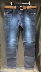 Regular Fit Denim Men Sparky Jeans With Belt, Waist Size: 32
