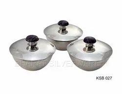 Pure Silver Mukhwas Set (Amethyst Stone)