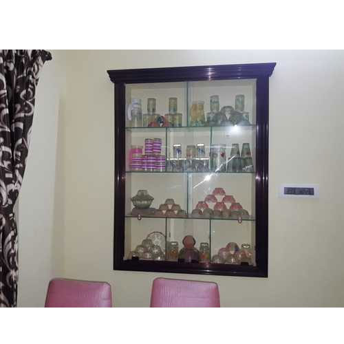 Wall Mounted Wooden Showcase