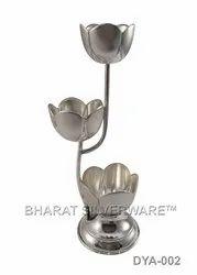 Pure Silver Tulip Diya