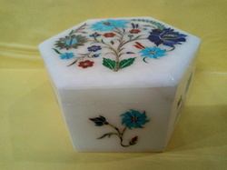 Designer Stone Inlay Jewelry Box