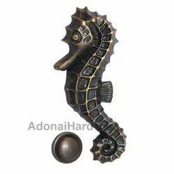 Sea Horse Brass Door Knocker