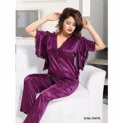 Satin Butterfly Honeymoon Night Suit