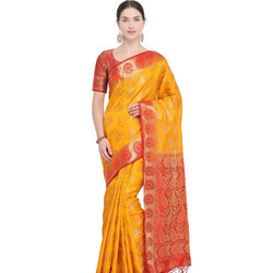 Border South Cotton Silk Saree with Blouse Piece
