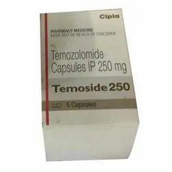 Temozolomide Temoside 250 Mg Capsules IP, Cipla, Prescription