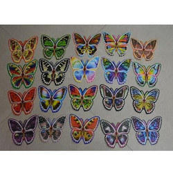 Multicolor Butterfly Stickers