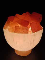 Selenite Bowl Lamp