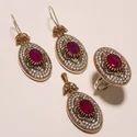 Purple Turkish Ring Pendant Set