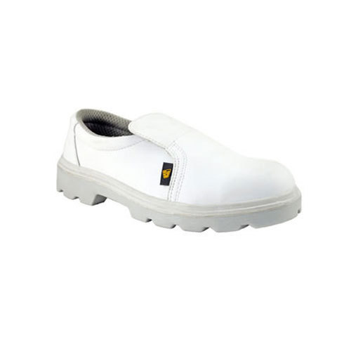 6c0374894 White Leather Safety Shoes For Cleanroom